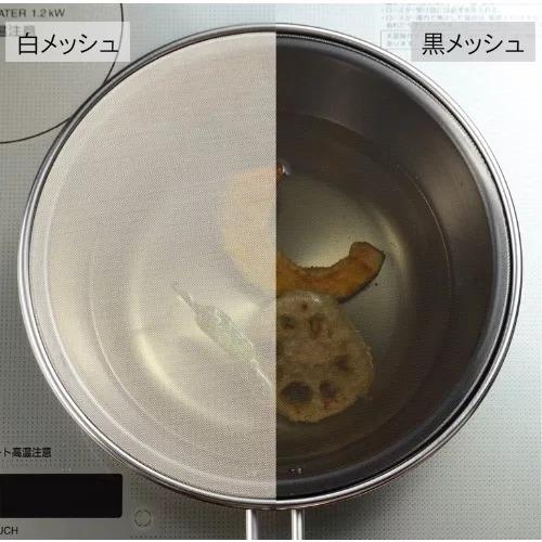 油ハネを防ぐメッシュカバーの仕様比較画像