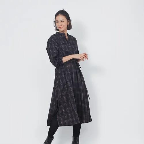 abahouse mavie/【新色追加】スキッパーシャツワンピース/¥9,000+税