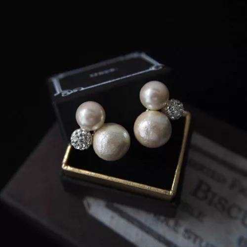 Ouca/【Earring Collection14】パール×ビジューイヤリング/¥6,300+税