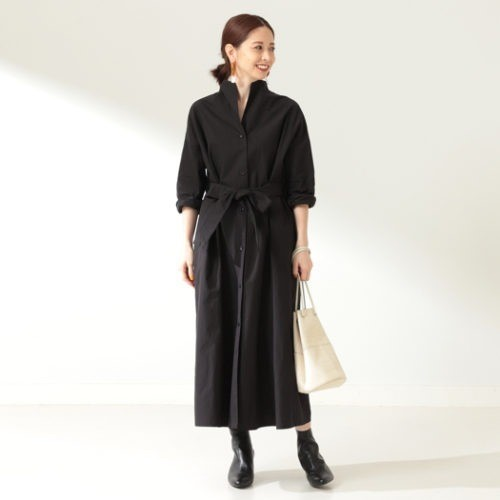 Demi-Luxe BEAMS/Demi-Luxe BEAMS / ウェザークロス シャツワンピース/¥29,000+税