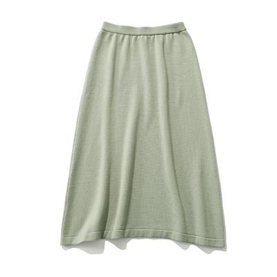 SLOANE 12Gメリノウール天竺スレッド編スカート