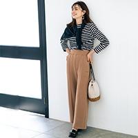 ボリューム裏毛ピンタックパンツ/AMERICANA