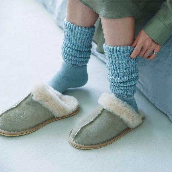 靴下サプリ まるでこたつソックス ふくらはぎ部分の編地