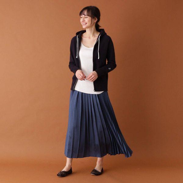 DRESSTERIOR(Ladies)/【限定カラー】デキシー吊裏毛ジップパーカーブラック/¥17,000+税