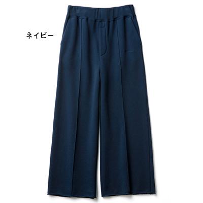 ボリューム裏毛ピンタックパンツ ネイビー/AMERICANA