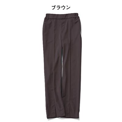 【福田麻琴さんコラボ】あったかストレッチパンツ(ブラウン)/12closet