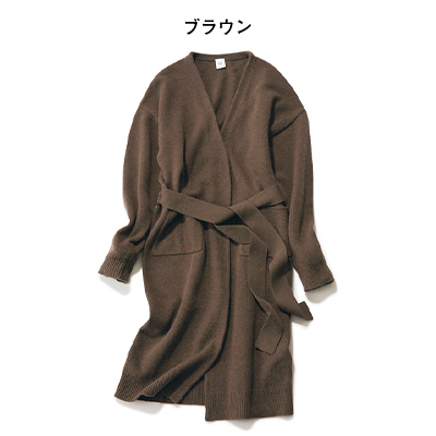 【福田麻琴さんコラボ】ロングカーディガン(ブラウン)/12closet