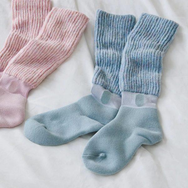 靴下サプリ まるでこたつソックス レディース フェアリーブルー ¥1,800+税