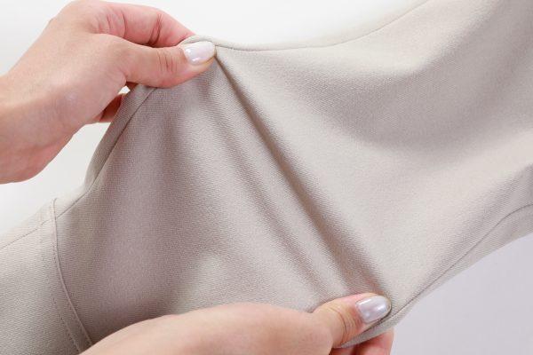 ウール調ポリエステル素材、Eco Wool【素材アップ②伸縮性イメージ】