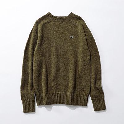 SCYE BASICS シェットランドウールクルーネックセーター