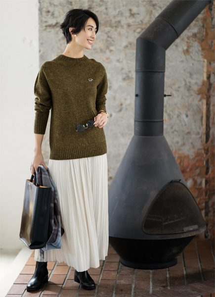 Day6:シンプルな着こなしは、上質ウールの高級感に頼って!