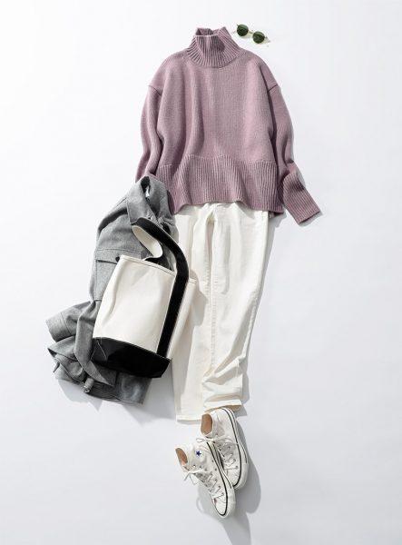 Day13:ニュアンスラベンダーなら、カジュアルに着ても女らしく