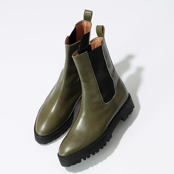 JANE SMITH/PLATFORM SIDEGORE VIBRAM SOLE BOOTS/¥46,000+税