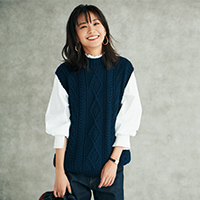 アランタートルベスト/Oldderby Knitwear