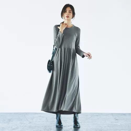 【福田麻琴さんコラボ】【洗える】NEWあったかジャージワンピース  ¥14,000 + 税