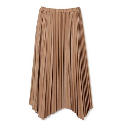 SACRA(サクラ) エコレザープリーツスカート
