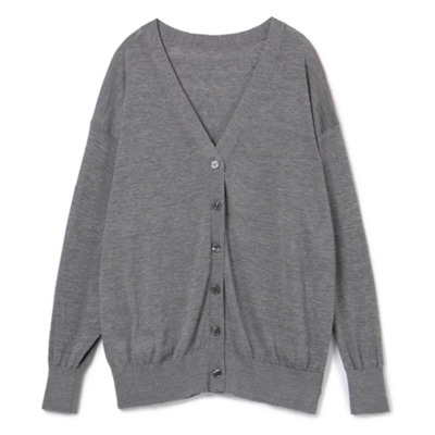 M7days for office 【吉村友希さんコラボ】シルク混Vカーデ ¥15,000+税
