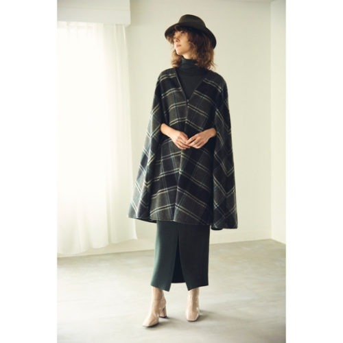 Demi-Luxe BEAMS AK+1 / トリミング ポンチョコート/¥42,000+税