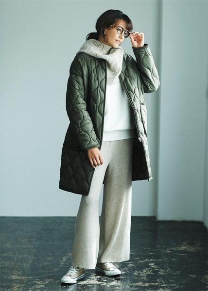 Style07:シックなトーンでまとめた軽い重ね着は大人の小粋なカジュアル