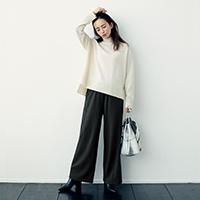 あったか裏起毛リラックスパンツ/12closet