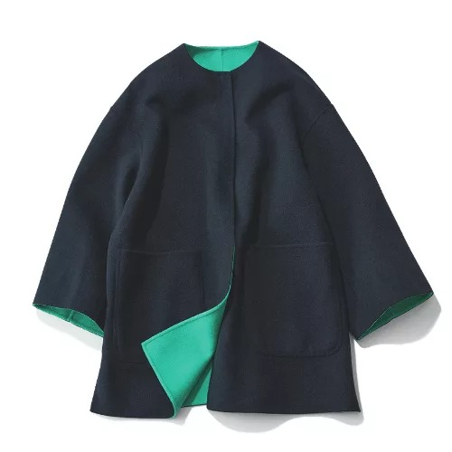 UNITED ARROWS UBCB リバー バイカラー コート 20AW† ¥55,000+税
