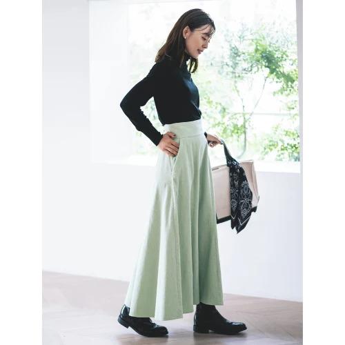 LEEマルシェおススメ!今はきたい!トレンド丈のあったかスカート