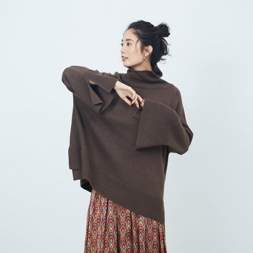 Rouge vif 【WEB&一部店舗限定】タートルポンチョプルオーバー ¥10,000+税