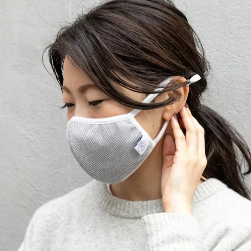 russet/【先行販売】洗える三層ニットマスク(KU-002)/¥1,800+税
