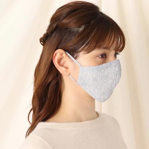 Couture Brooch/【内側保湿/静電気防止】ケース付きレースマスク/¥2,000+税