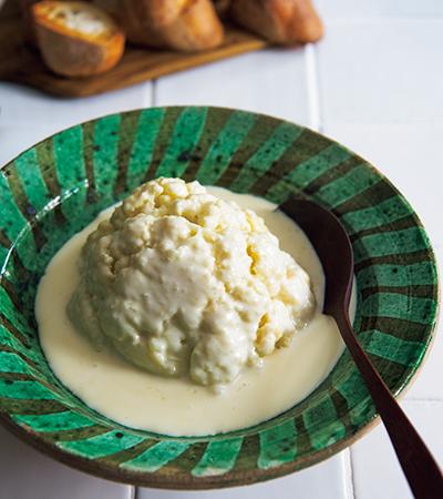 カリフラワーのミルク煮