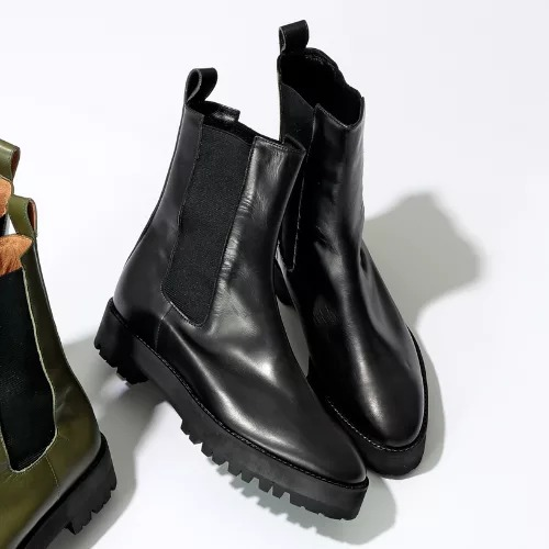 JANE SMITH PLATFORM SIDEGORE VIBRAM SOLE BOOTS ¥46,000+税