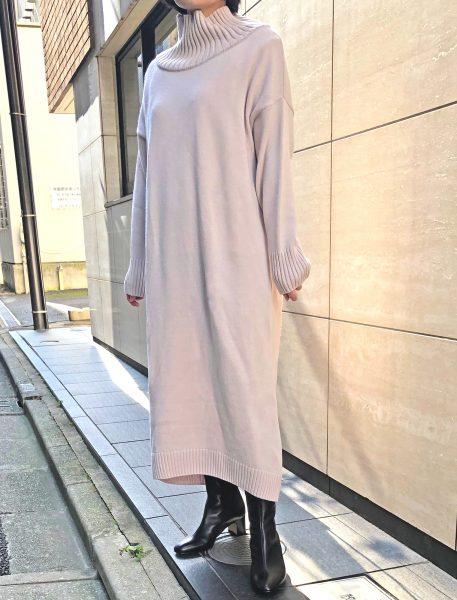 身長150cm代の小柄スタッフがE by éclat「ニットワンピース」を着てみました エクラ2020年特集