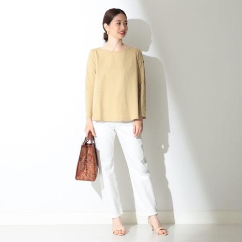 Demi-Luxe BEAMS/SERGE de bleu / 別注 UNION WHITE デニム/¥18,500+税