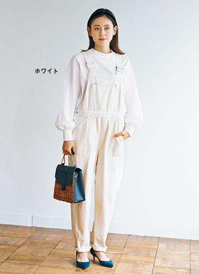 [石上美津江さんコラボ]ギャザースリーブTシャツ ホワイト/12closet