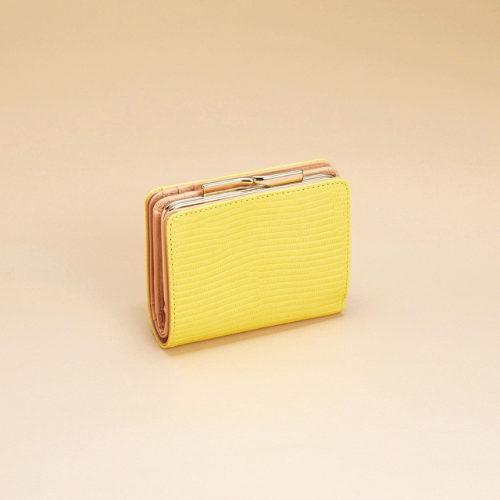 TOPKAPI/イタリアンレザー・リザード型押し・がま口2つ折り財布/¥18,000+税