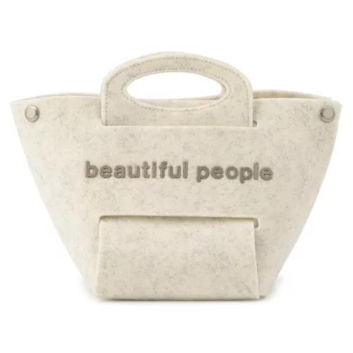beautiful people/recycled feltconstructive bag S/¥30,000+税