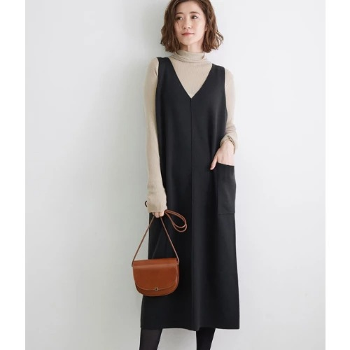ROPE' PICNIC/【アンチピリング】ビッグポケットニットジャンパースカート/¥3,990+税