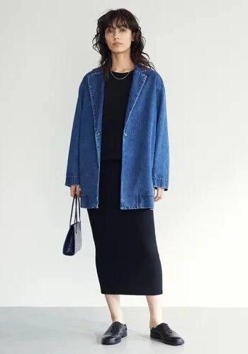 【オーバーサイズデニムジャケットでモード感漂うコーデ】GALLARDAGALANTE/デニムジャケット/¥28,000+税
