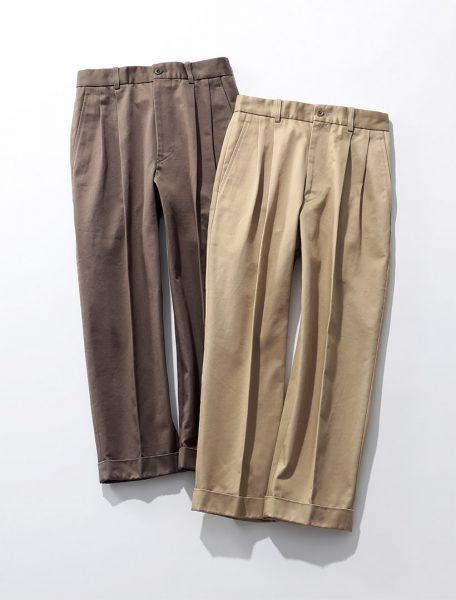 SCYE BASICS San Joaquin Cotton Tapered Pleated Trousers