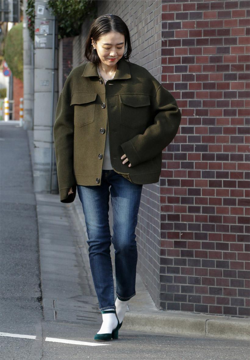 Newシルエットデニムで冬から春の美脚Style