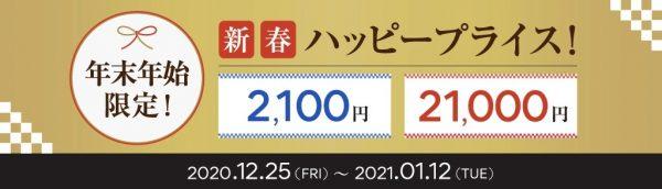 新春ハッピープライス!2020.12.25~2021.01.12