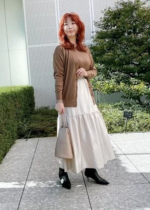 M7days艶ティアードスカート¥16,000+税モデル②
