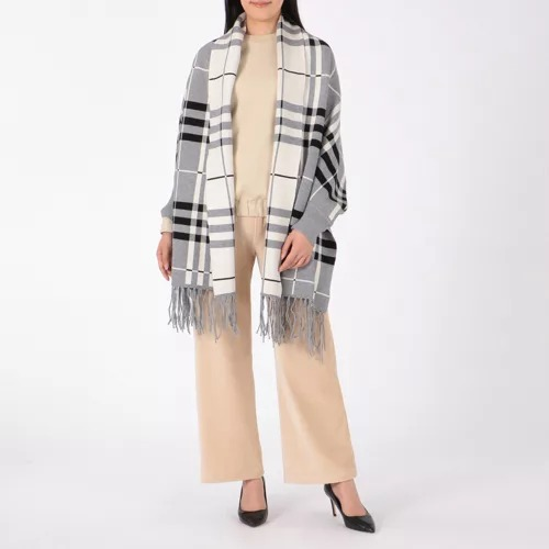 Munich/knitted tartan check poncho/¥10,000→¥7,000+税(30%OFF)
