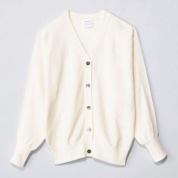 12closet/【洗える】綿シルクドルマンスリーブカーディガン/¥12,500