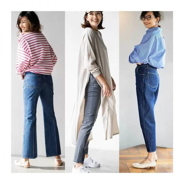 人気6ブランドの新デニム研究Newシルエットデニムで冬から春の美脚Style