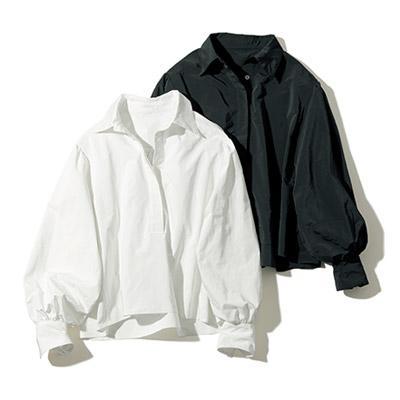 地曳いく子×eclat(ジビキイクコ×エクラ) ふんわり袖ブラウス