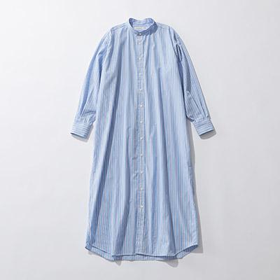 INDIVIDUALIZED SHIRTS 【別注】ストライプ柄ロングシャツドレス¥36,000+税