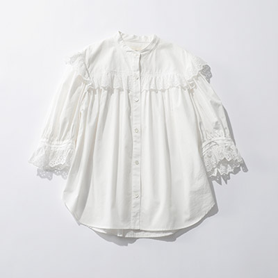 Shinzone COTTON FRILL BLOUSE¥24,000+税