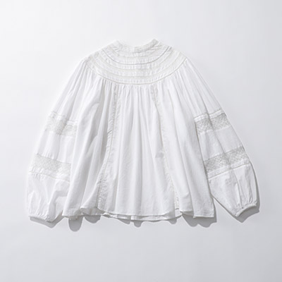 MICA & DEAL round lace blouse¥23,000+税