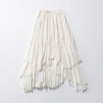 CASA FLINE コットンティアードスカート¥33,000+税
